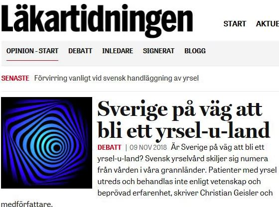 Sverige - på väg att bli ett yrsel uland